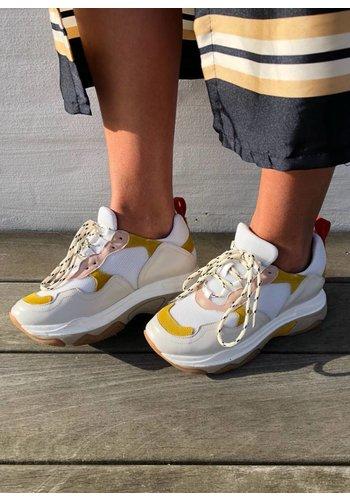 Les Soeurs Blake Sneaker White/Yellow