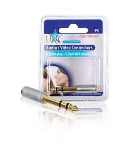 HQ 6.33mm Plug met 3.5mm Socket