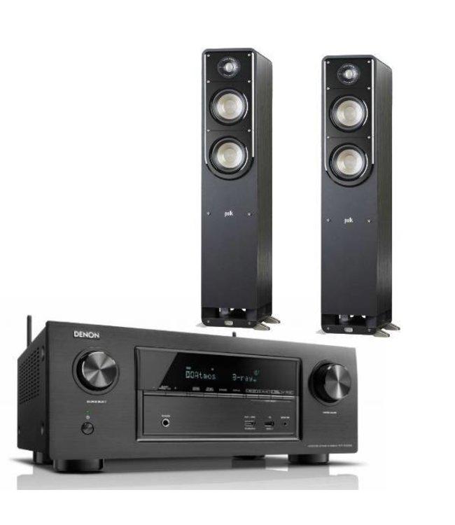 Denon AVR-X3300W + Polk Audio S50