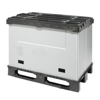 Inklapbare kunststof palletbox 1227x1027x965mm