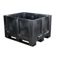 Kunststof recyclaat palletbox 1200x1000x760mm - 3 sledes, gesloten