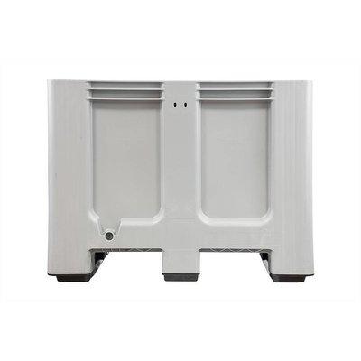 Kunststof palletbox 1200x1000x760mm - 3 sledes, gesloten zijwanden en bodem