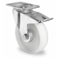 Rotom Zwenkwiel geremd 100mm diameter met rollager - PA