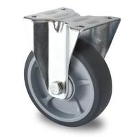 Rotom Bokwiel 125mm diameter met kogellager - PP /TPR