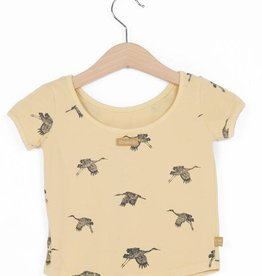 Lotie kids Ballet Top Crane Birds geel