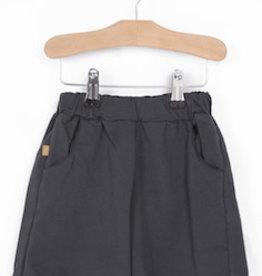 Lotie kids Oversized Short Solid Vintage Black