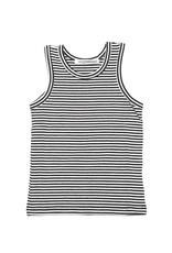 Mingo Singlet Jersey B/W Stripe