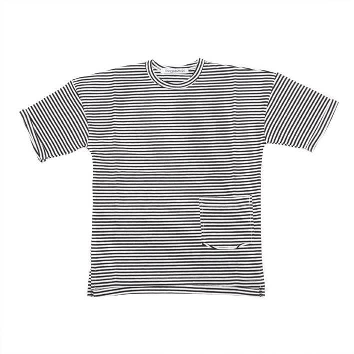 Mingo t-shirt B/W stripes (Oud model)