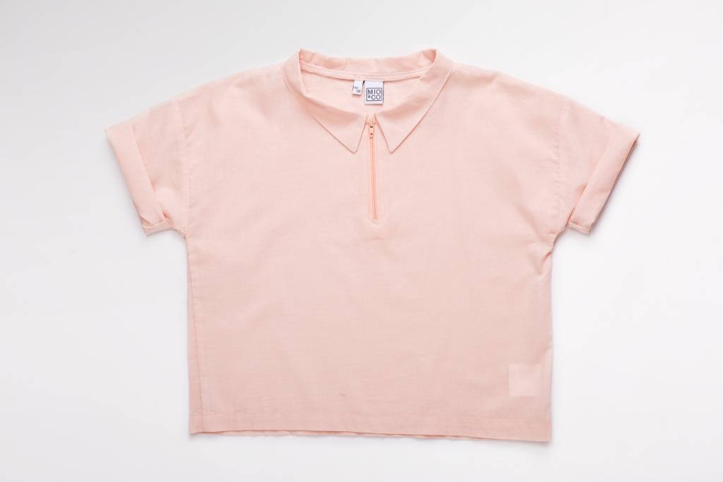 MIO*CO Blouse wide cotton pink