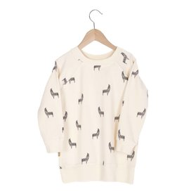 Lotie kids Long Sweatshirt/Dress Llamas
