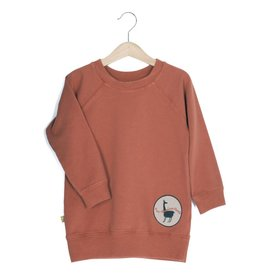 Lotie kids Long Sweatshirt/Dress Patch Copper