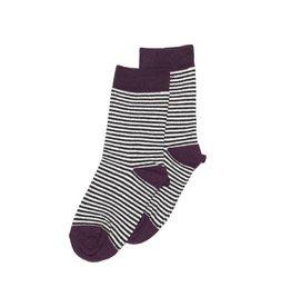 Mingo knee sock striped/eggplant