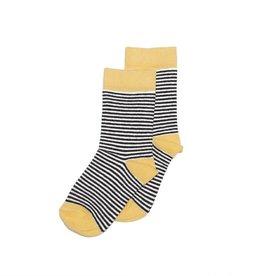 Mingo Knee sock striped/ocher