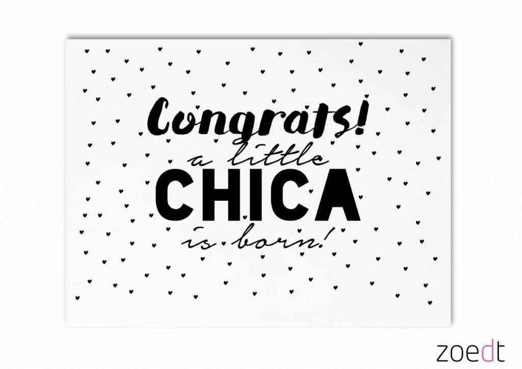 Congrats a little chica