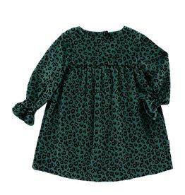 Maed for mini Green Leopard dress
