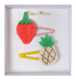 Meri Meri Pineapple and strawberry hair clips