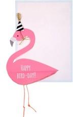 Meri Meri Flamingo honeycomb card