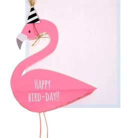 Meri Meri Flamingo honeycomb card