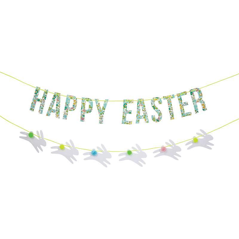 Meri Meri Liberty Betsy green Easter garland