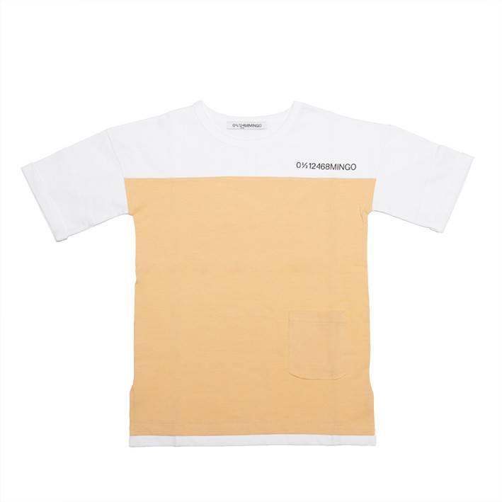 Mingo T-shirt white/apricot