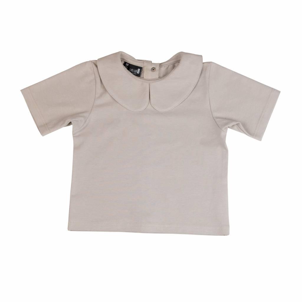 CarlijnQ basic t-shirt collar sand