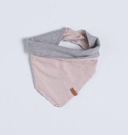 nixnut Bandana bib grey/old pink