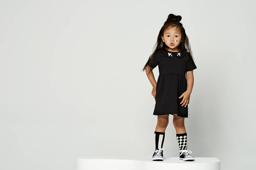 CarlijnQ little black collar dress poodle