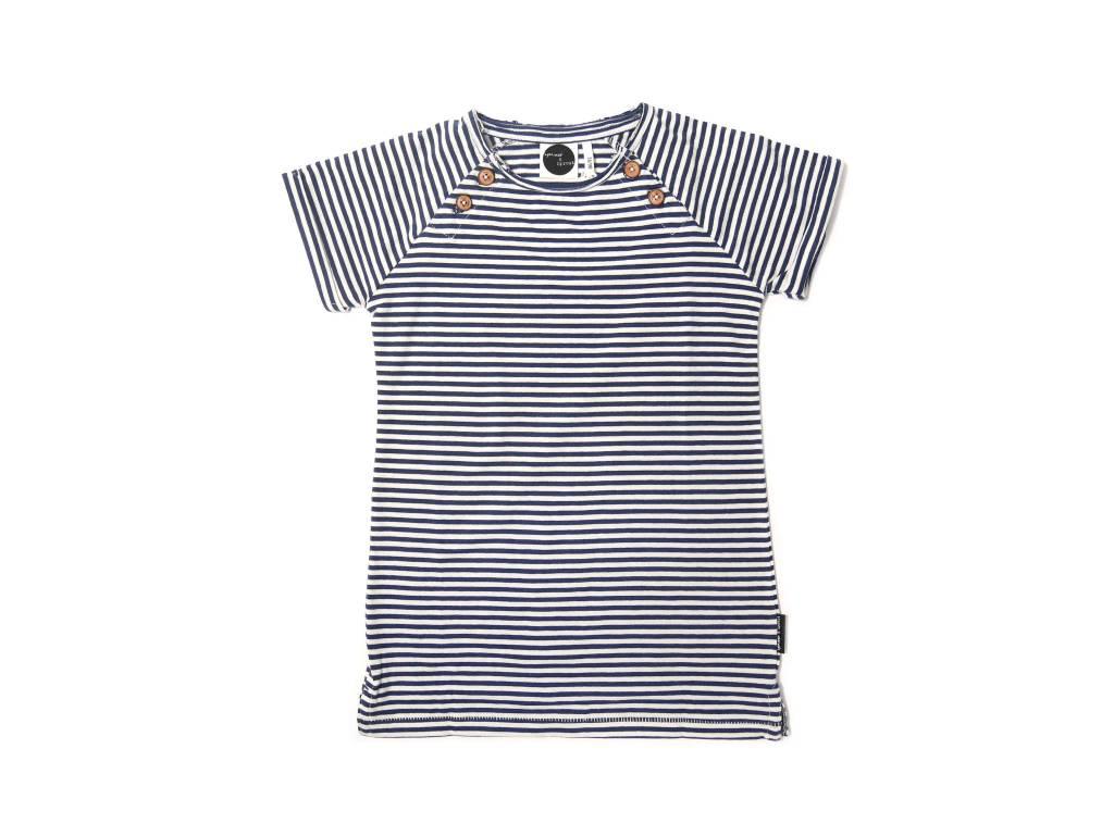 Sproet & Sprout T-shirt Dress Navy Stripe