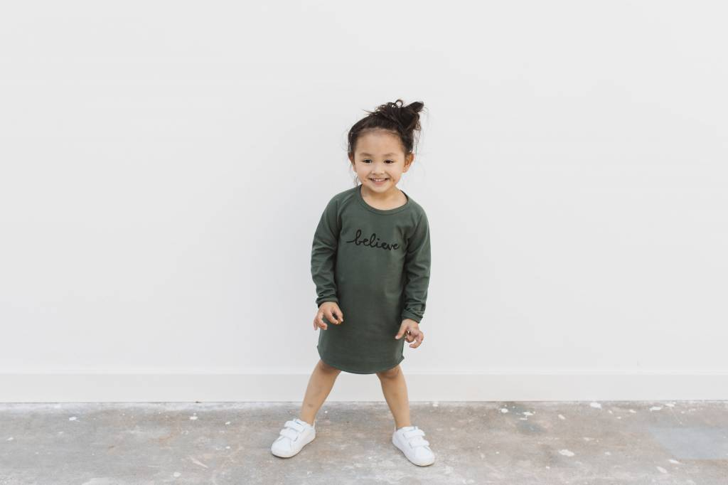nOeser Paula dress believe dark green