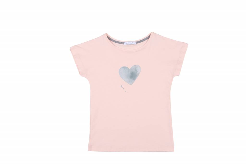 One we Like T-shirt heart soft pink