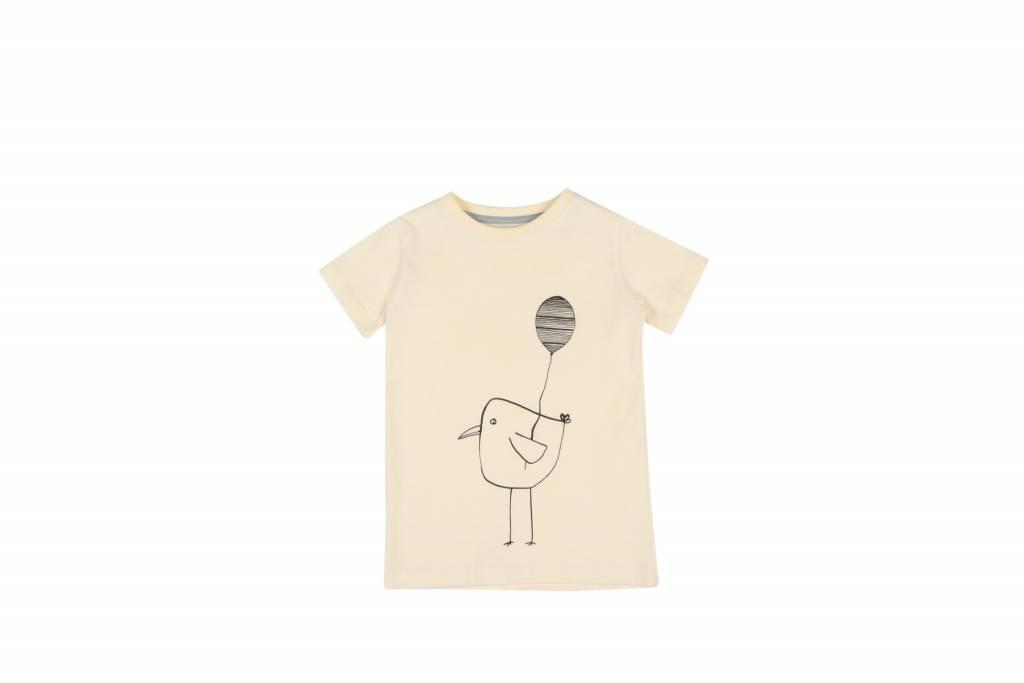 One we Like T-shirt balloon bird yellow