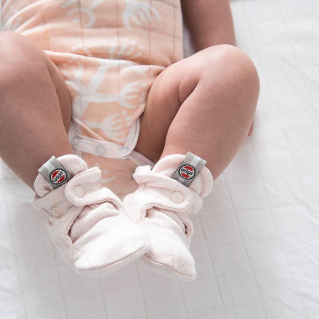 Lodger Babyslofjes katoen solid white