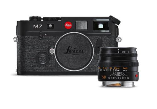 Leica M7 black Beginners Set, black chrome finish
