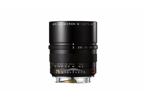 Leica APO-SUMMICRON-M 75 mm f/2 ASPH., black anodized finish