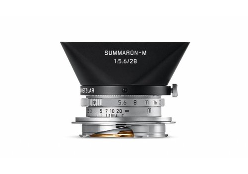 Leica Summaron-M 28mm f/5.6 ASPH, silver chrome finish lens