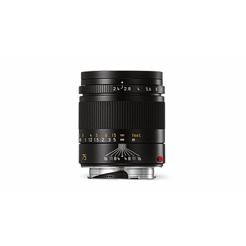 Leica SUMMARIT-M 75 mm f/2.4, black anodized finish