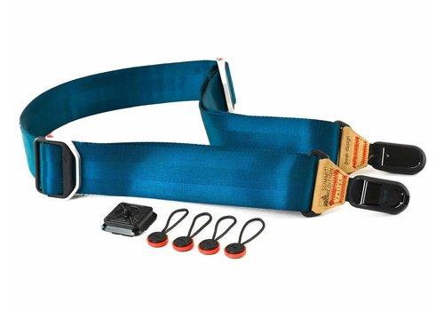 Peak Design Slide Summit Edition Tallac (navy strap with tan leather) - premium professional camera strap