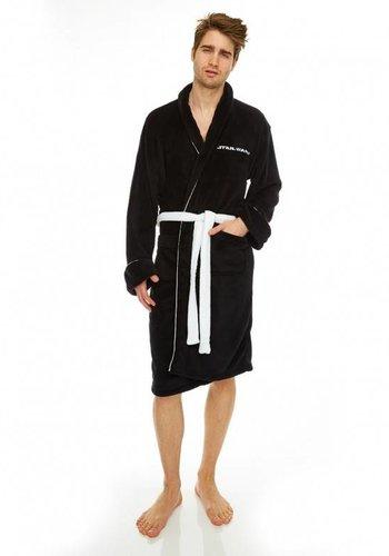 Star Wars: Generic Fleece Robe Black No Hood - White Belt
