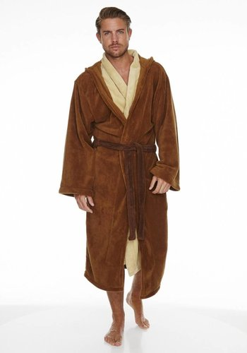 Star Wars: Jedi Outfit inspired Fleece Robe with Hood - Brown Belt
