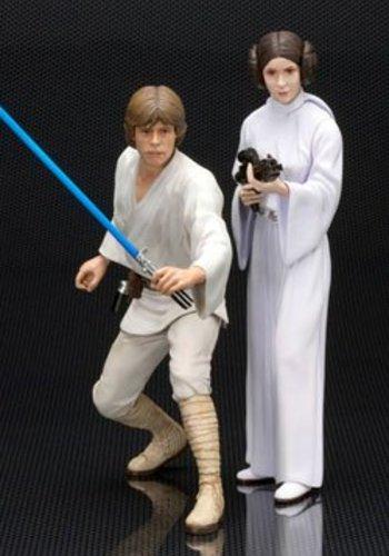 Star Wars ARTFX+ Statue 2-Pack Luke Skywalker & Princess Leia 15 cm