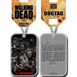 The Walking Dead Dog Tag with ball chain Zombies
