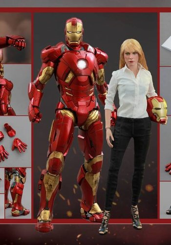 Iron Man 3: Pepper Potts and Mark IX - Sixth Scale Figure Set