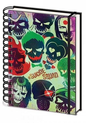 Suicide Squad Skulls - A5 Ringband Notitieboek