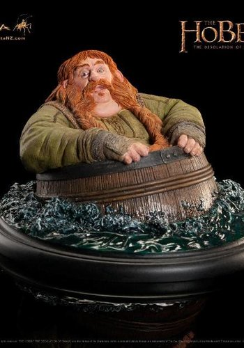 The Hobbit The Desolation of Smaug Statue Bombur Barrel Rider 7 cm Weta