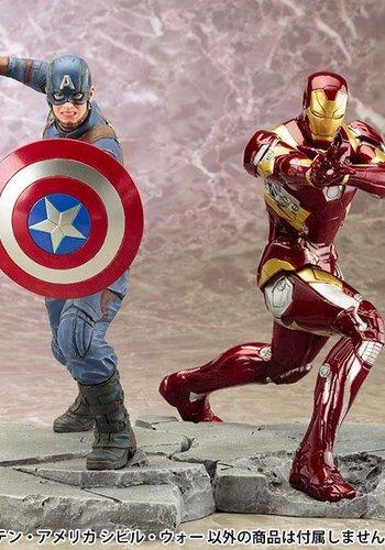 Captain America Civil War: Iron Man + Captain America Artfx+ PVC Statue 2/set