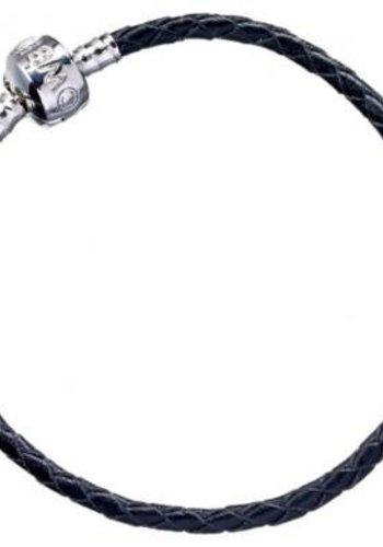 HARRY POTTER - Black Leather Charm Bracelet - 19cm M