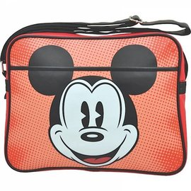 Hole In The Wall Walt Disney Mickey Mouse Rood - Retro Messenger-Bag