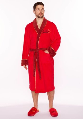 Better Call Saul: Red Fleece Bathrobe no Hood