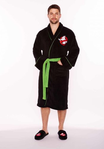 Ghostbusters: Black Fleece Robe with Green Belt