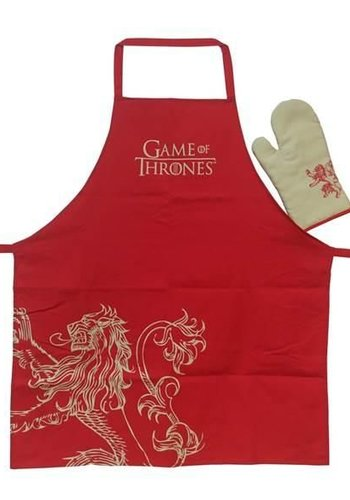 GAME OF THRONES - Apron and oven mitt - Lannister